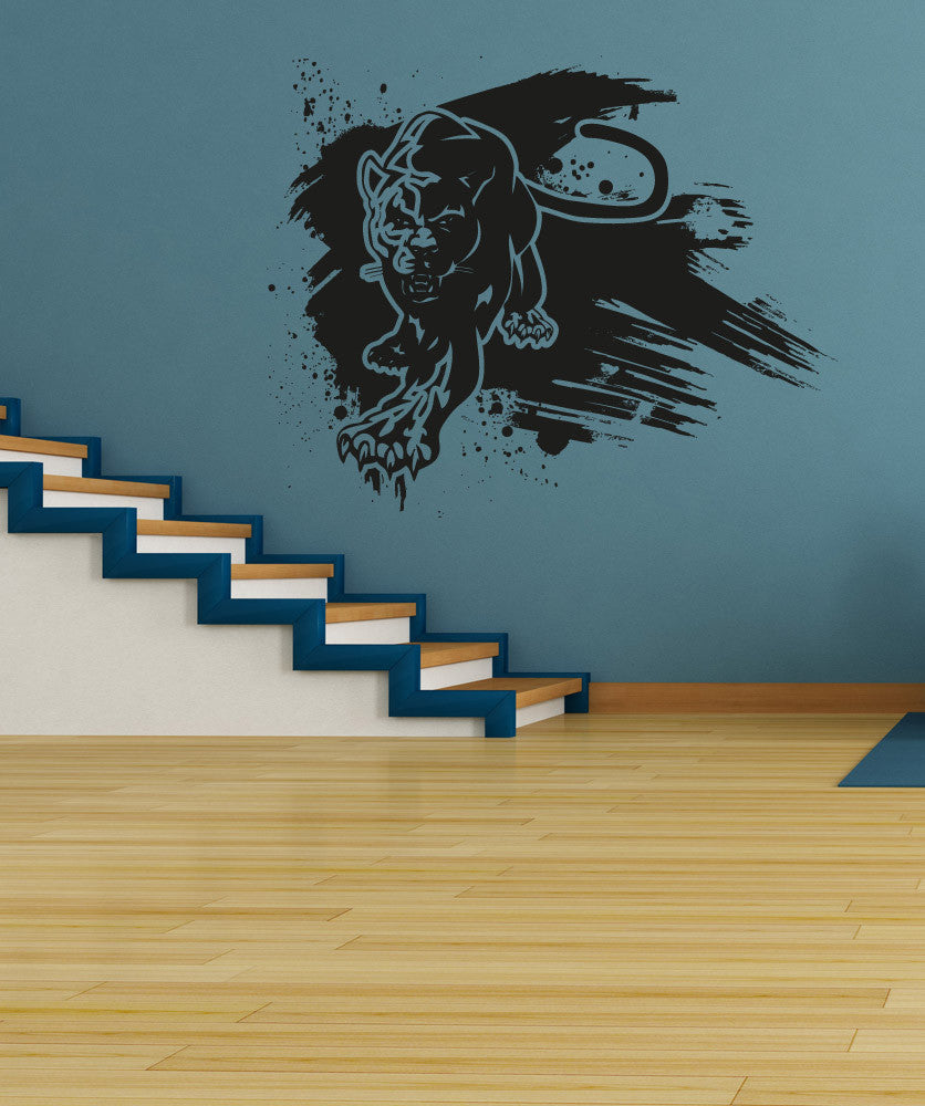 Vinyl Wall Decal Sticker Panther Paint Smear #OS_AA664