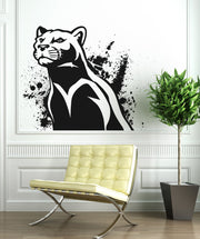 Vinyl Wall Decal Sticker Illustrated Panther #OS_AA666