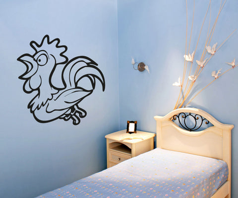 Vinyl Wall Decal Sticker Rooster #OS_AA671