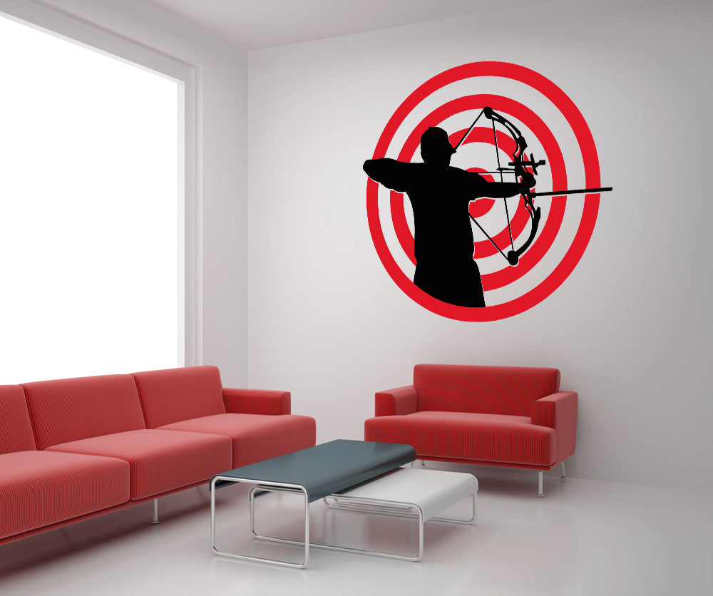 Vinyl Wall Decal Sticker Archery Target OSAA678