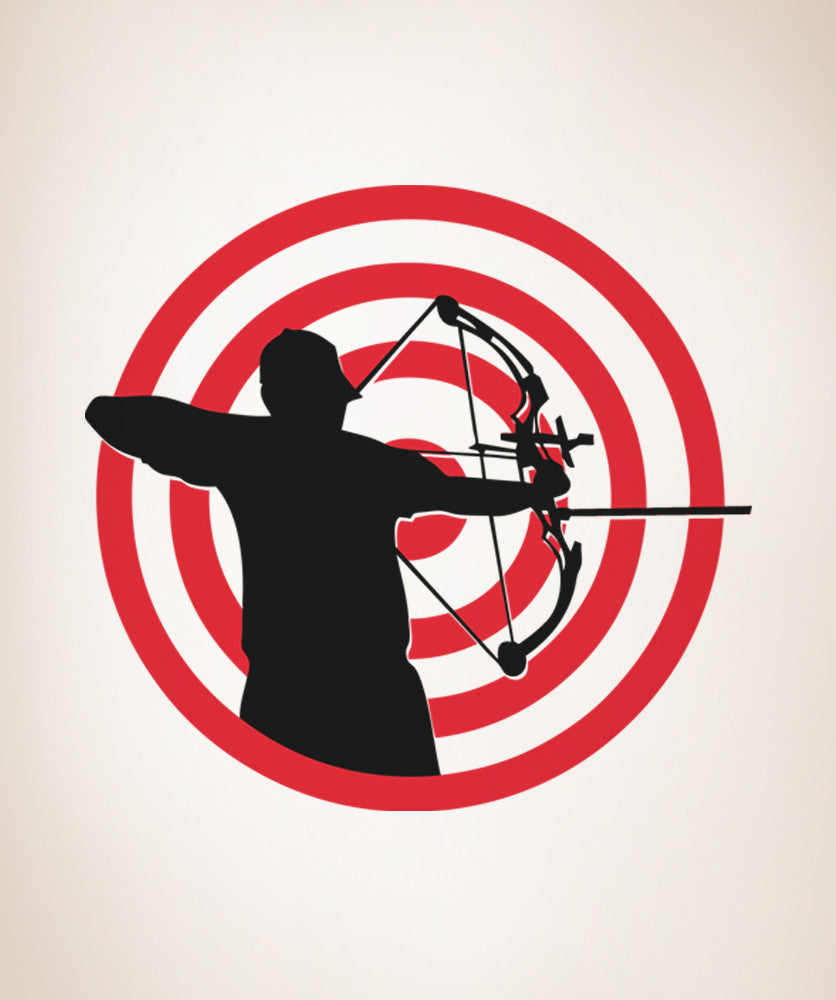 Vinyl Wall Decal Sticker Archery Target OSAA - Vinyl wall decals at targetwall decor stickers target