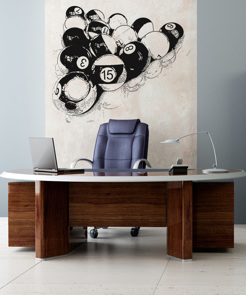 Vinyl Wall Decal Sticker Billiard Balls #OS_AA681