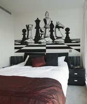 Chess Board Play Vinyl Wall Decal Sticker. #OS_AA691