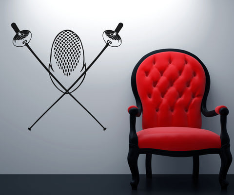 Vinyl Wall Decal Sticker Fencing Equipment #OS_AA703