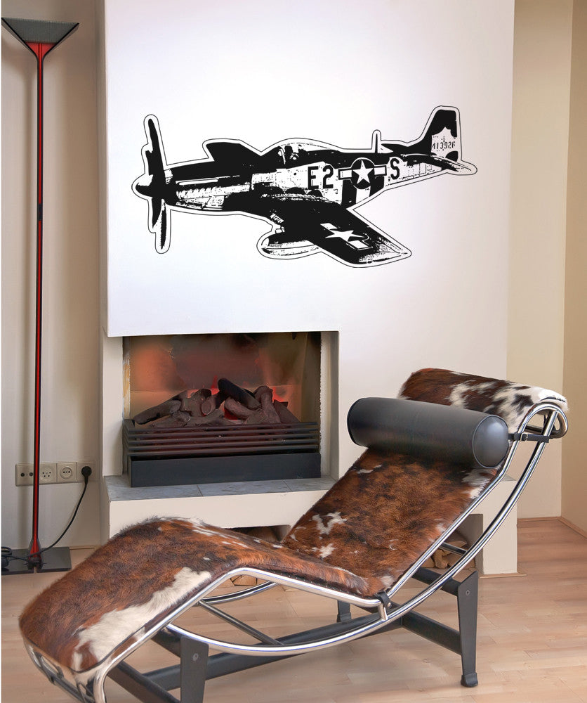 Vinyl Wall Decal Sticker Vintage Aircraft Os Aa705