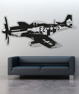 Vinyl Wall Decal Sticker Vintage Aircraft #OS_AA705