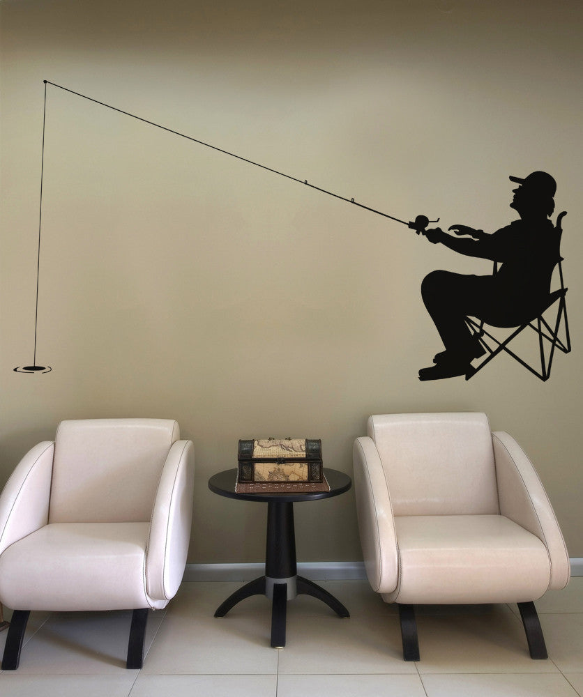 Vinyl Wall Decal Sticker Fishing Day #OS_AA709