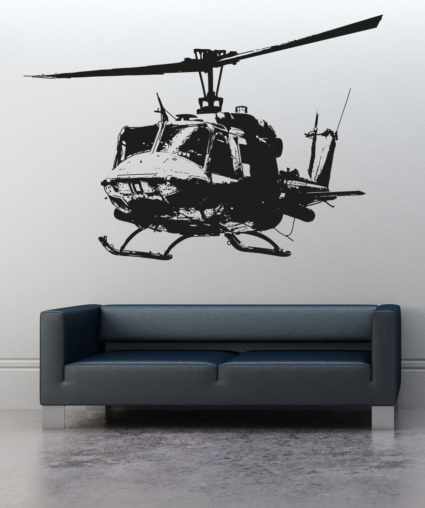 Vinyl Wall Decal Sticker Helicopter #OS_AA717