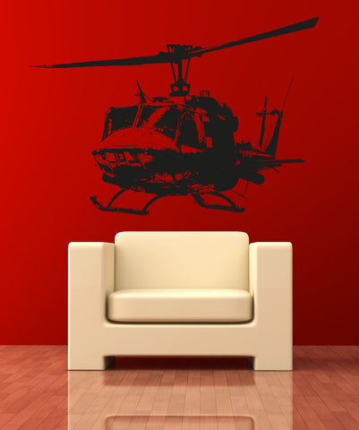 Helicopter Vinyl Wall Decal Sticker. #OS_AA717