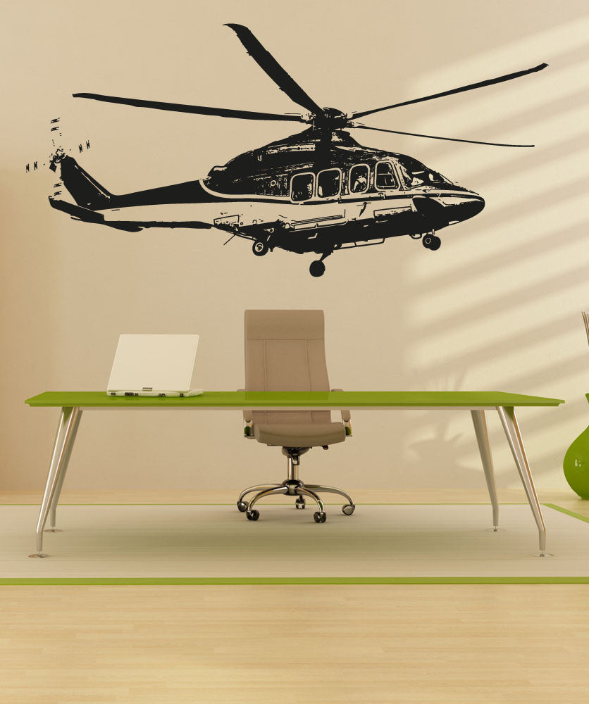 Vinyl Wall Decal Sticker Rescue Helicopter #OS_AA718