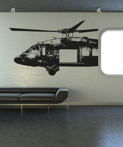 Vinyl Wall Decal Sticker Open Blackhawk Helicopter #OS_AA721