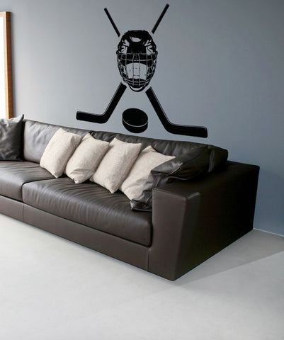 Vinyl Wall Decal Sticker Hockey Equipment #OS_AA722