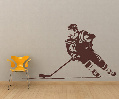 Hockey Player Vinyl Wall Decal Sticker. #OS_AA724