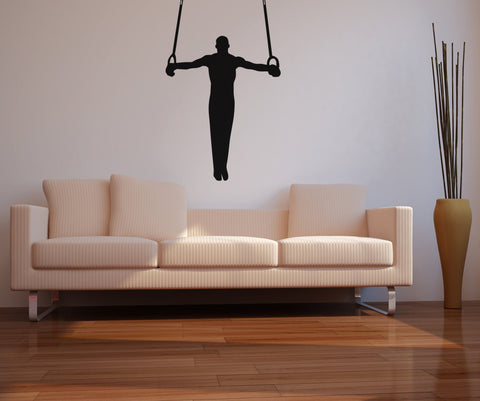 Gymnastic's Olympic Rings Wall Decal. Gym Decor. #OS_AA733