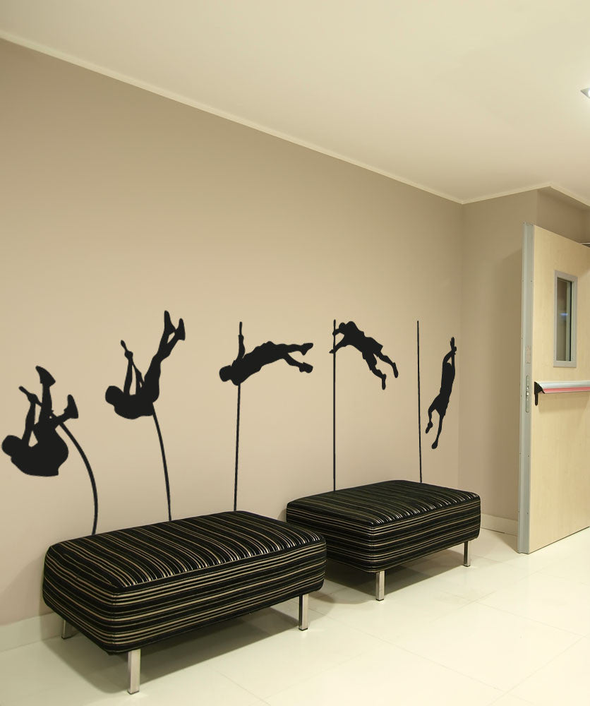 Vinyl Wall Decal Sticker Pole Vault Landing #OS_AA738