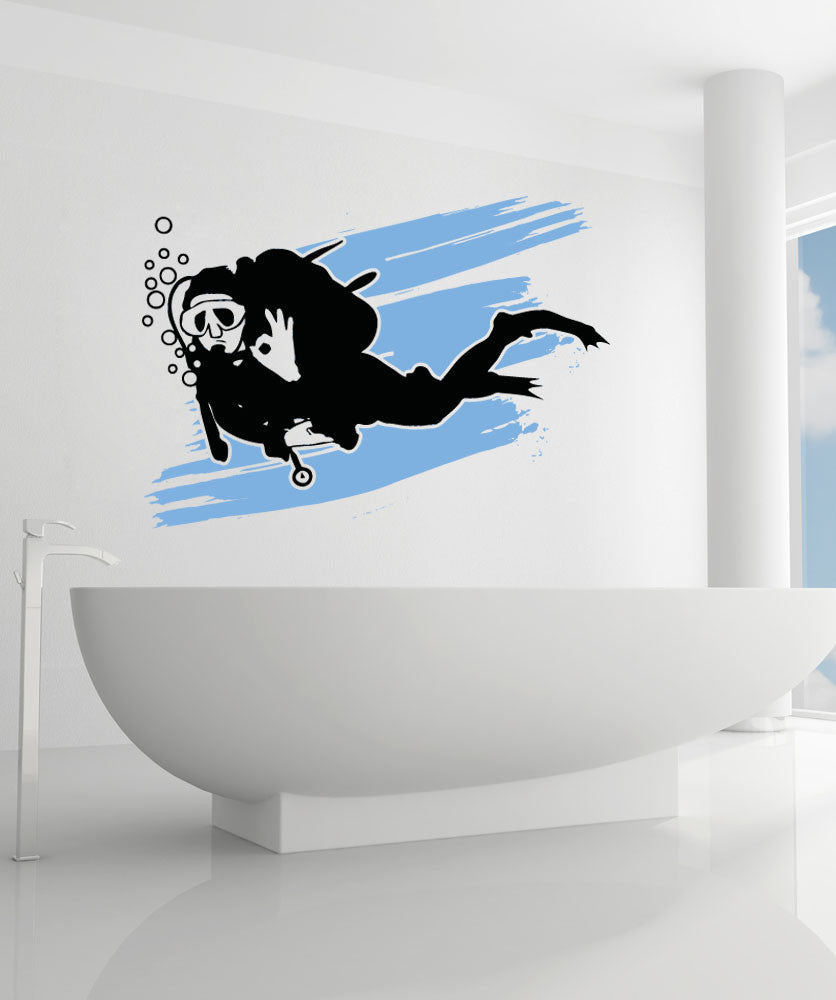 Vinyl Wall Decal Sticker Scuba #OS_AA743
