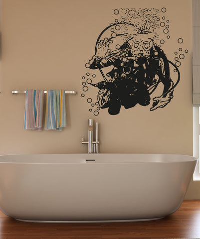 Vinyl Wall Decal Sticker Hello Scuba Diver #OS_AA750