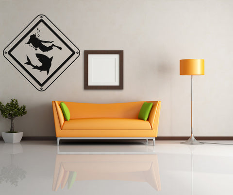 Vinyl Wall Decal Sticker Scuba Sign #OS_AA753