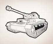 Vinyl Wall Decal Sticker Tank #OS_AA776