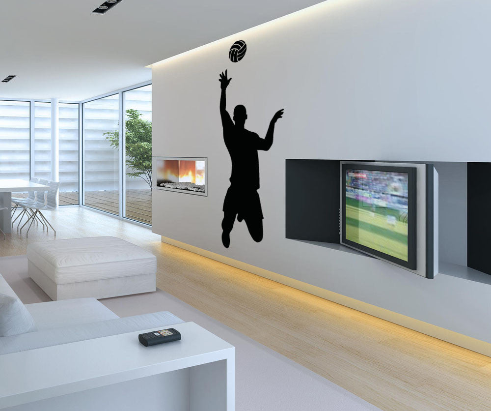 Vinyl Wall Decal Sticker Male Volleyball Player Os Aa788