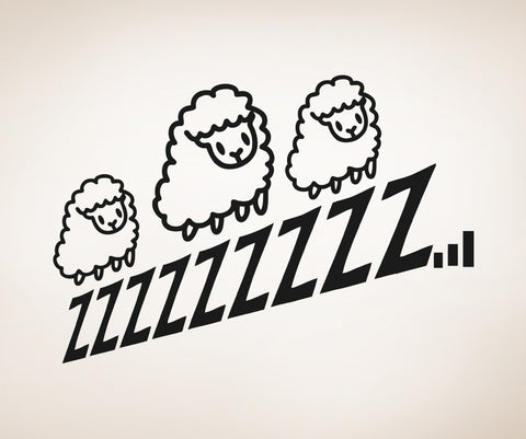 Vinyl Wall Decal Sticker Sleepy Sheep #OS_AA808