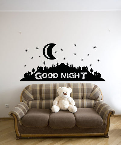 Vinyl Wall Decal Sticker Good Night #OS_AA810