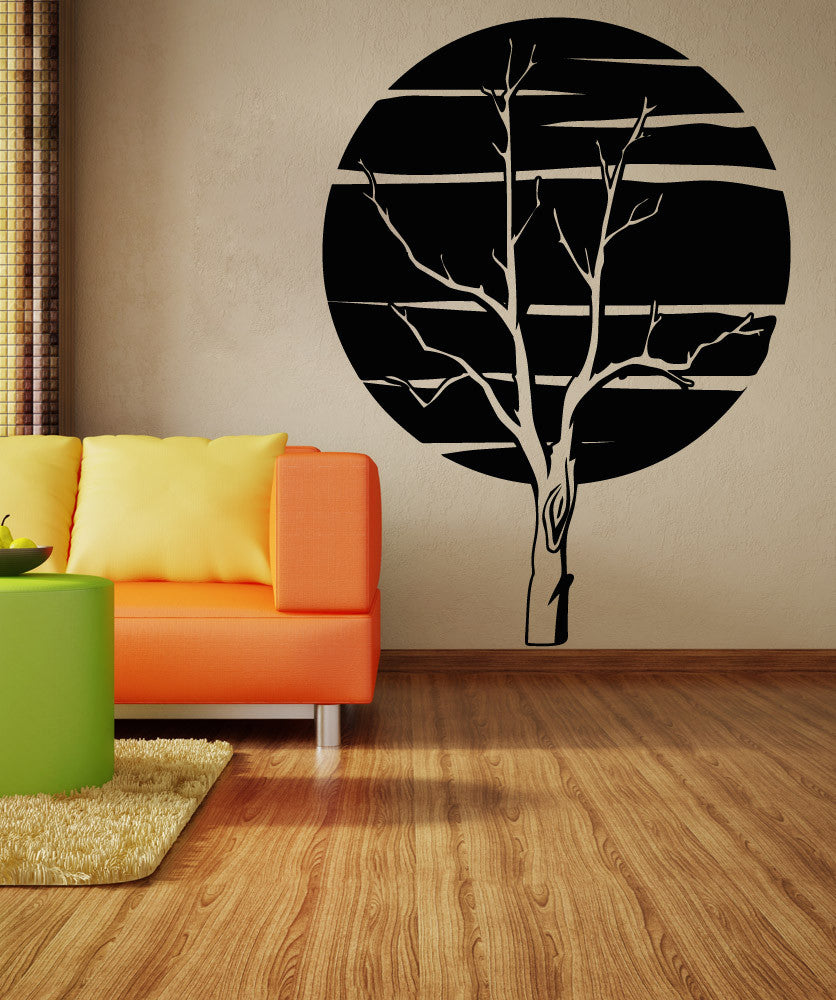 Vinyl Wall Decal Sticker Moon and Tree #OS_AA812