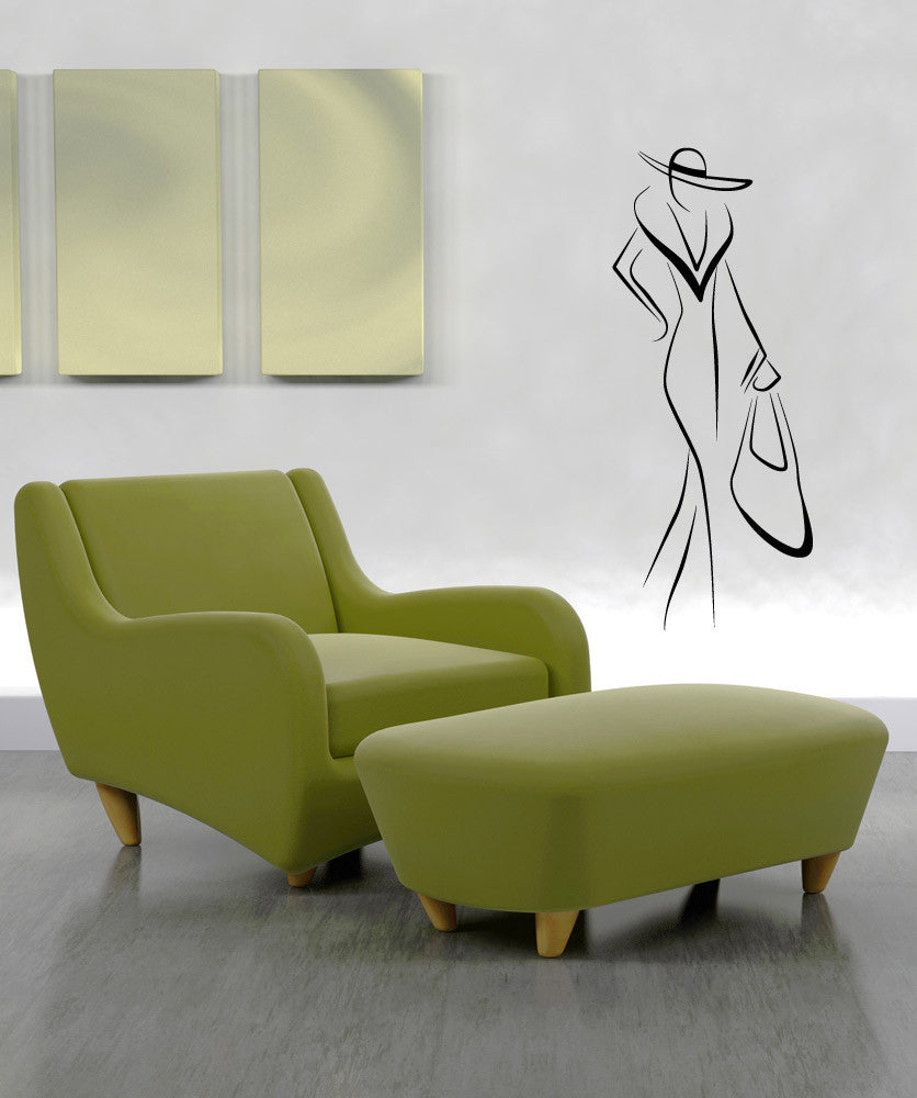 Vinyl Wall Decal Sticker Fashionista #OS_AA849