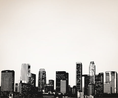 Vinyl Wall Decal Sticker LA Skyline #OS_AA899