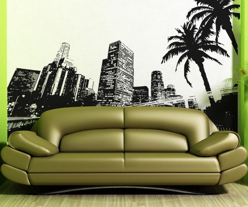 Vinyl Wall Decal Sticker City Of Los Angeles OSAA - Wall decals city
