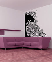 Vinyl Wall Decal Sticker Tree with Abstract Background #OS_AA918