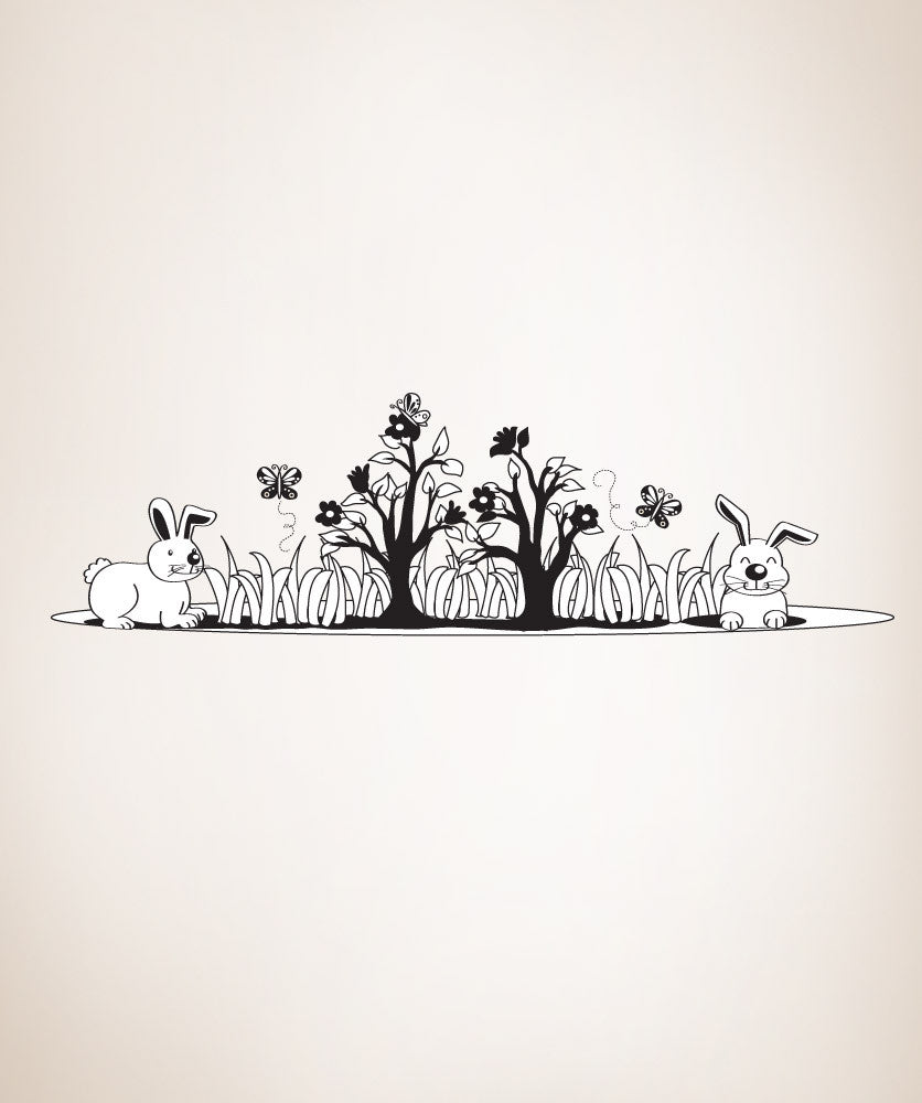 Vinyl Wall Decal Sticker Bunnies #OS_DC105