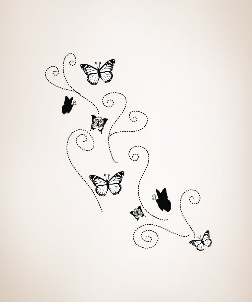 Vinyl Wall Decal Sticker Flying Butterflies #OS_DC107
