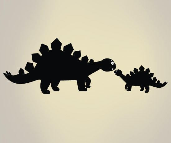 Vinyl Wall Decal Sticker Dinosaur Mom And Baby Os Dc109
