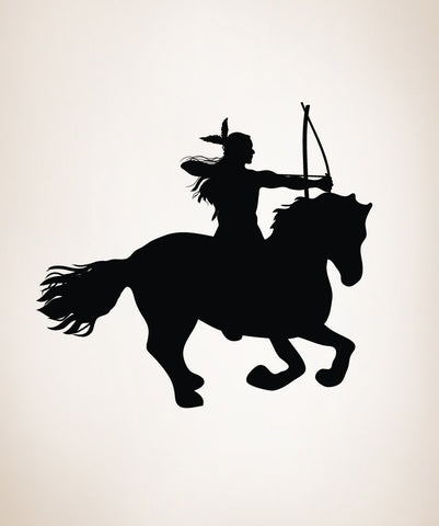 Vinyl Wall Decal Sticker Native American on Horse #OS_DC139