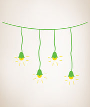 Vinyl Wall Decal Sticker String of Lights #OS_DC162