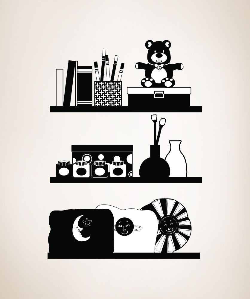 Vinyl Wall Decal Sticker Shelf Organizer #OS_DC167