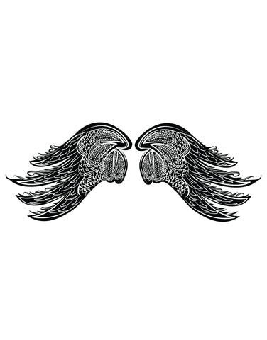 Intricate Wings Vinyl Wall Decal Sticker. #OS_DC231
