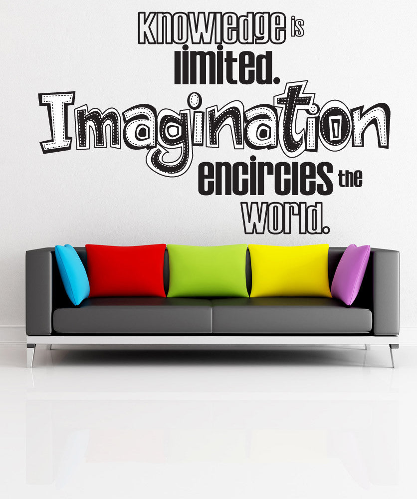 Vinyl Wall Decal Sticker Imagination Quote #OS_DC305