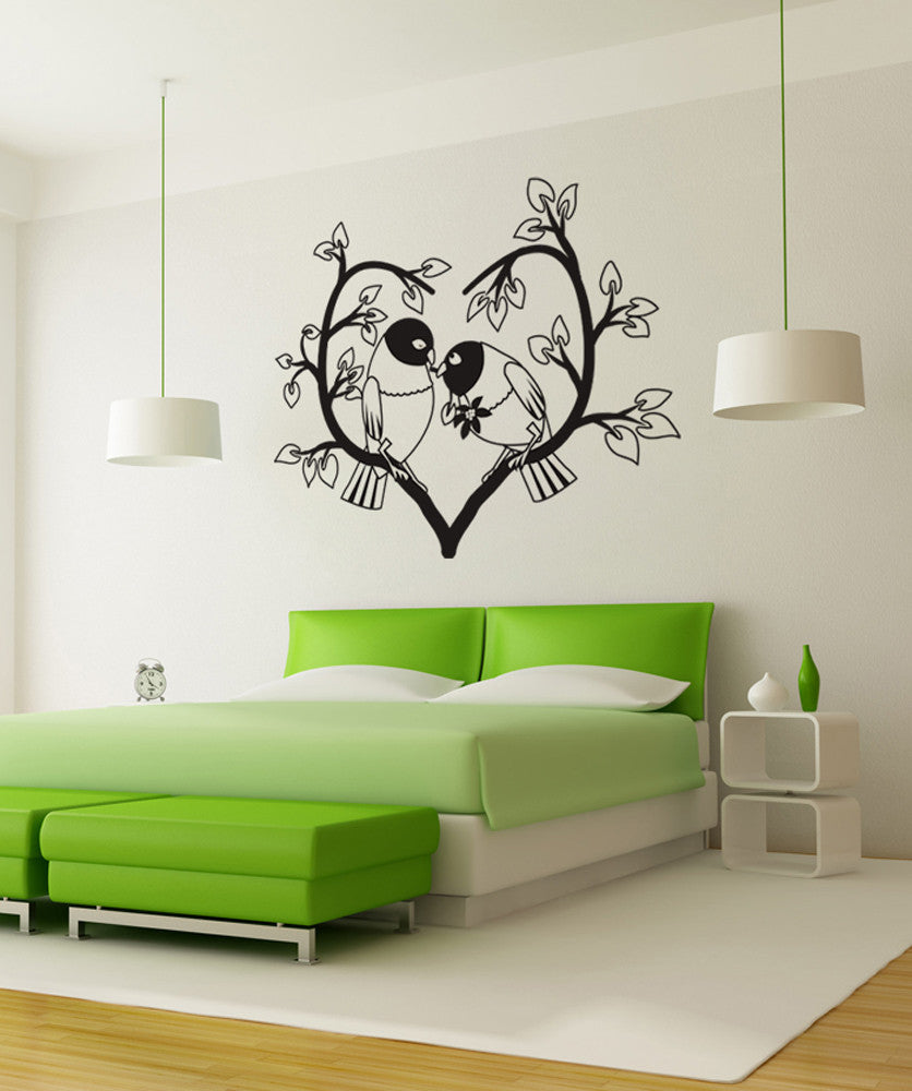 Vinyl Wall Decal Sticker Exotic Love Birds #OS_DC437