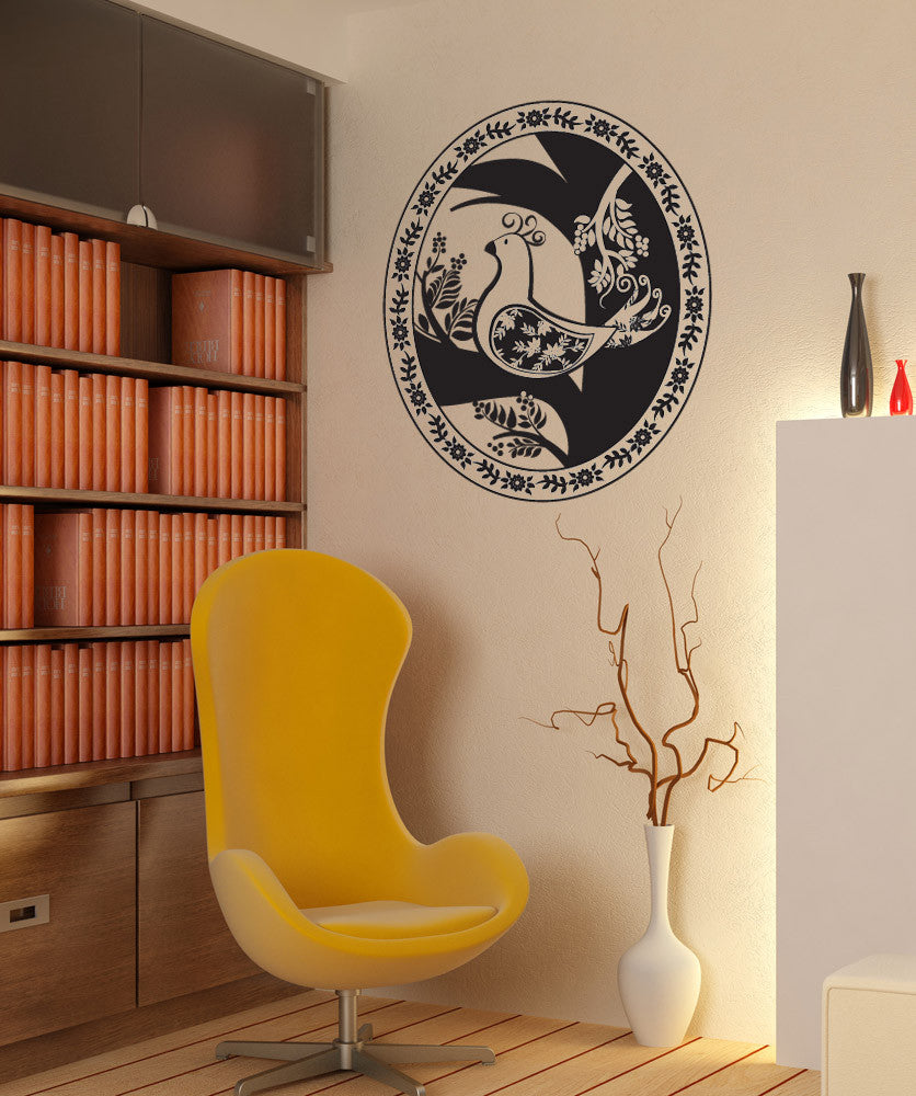Vinyl Wall Decal Sticker Bird Portrait #OS_DC443
