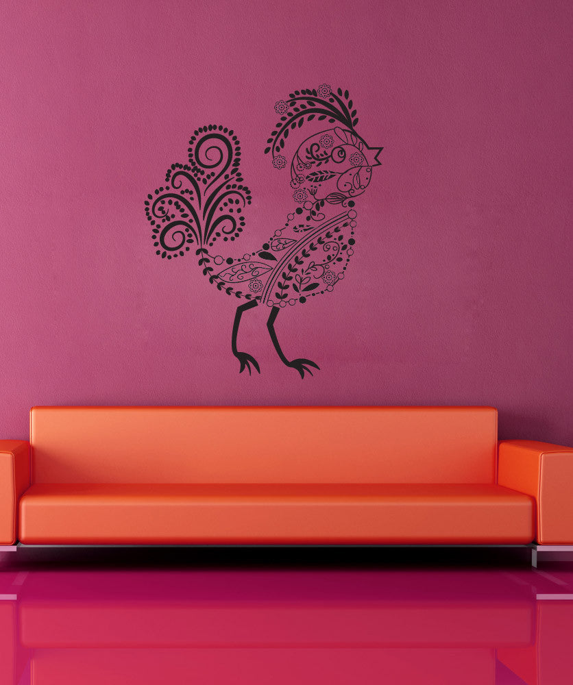 Vinyl Wall Decal Sticker Floral Bird #OS_DC453