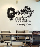 Vinyl Wall Decal Sticker Henry Ford Quality Quote #OS_DC506