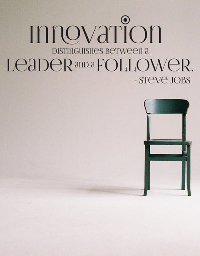 Steve Jobs Innovation Quote: Innovation Distinguishes between a Leader and a Follower. #OS_DC510