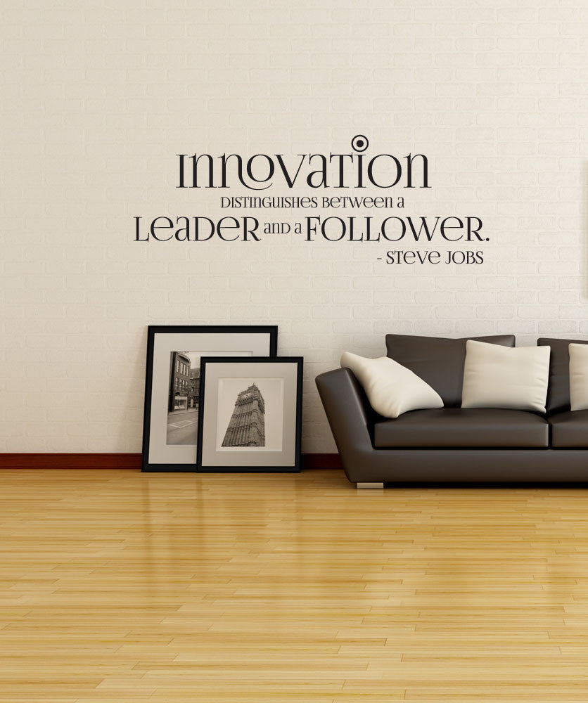 Vinyl Wall Decal Sticker Steve Jobs Innovation Quote #OS_DC510