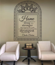 Vinyl Wall Decal Sticker Home Quote #OS_DC518