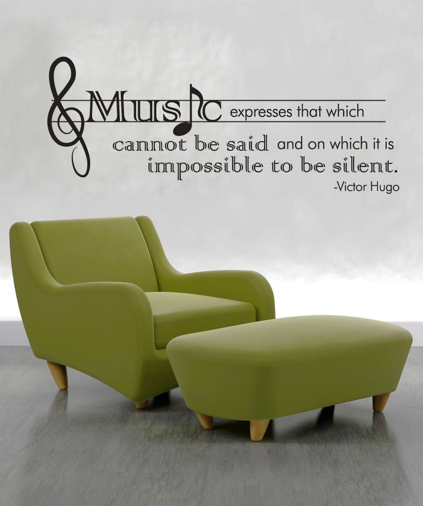 Vinyl Wall Decal Sticker Victor Hugo Music Quote #OS_DC524