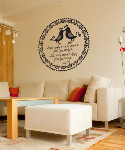 Vinyl Wall Decal Sticker Lao Tzu Love Quote #OS_DC528