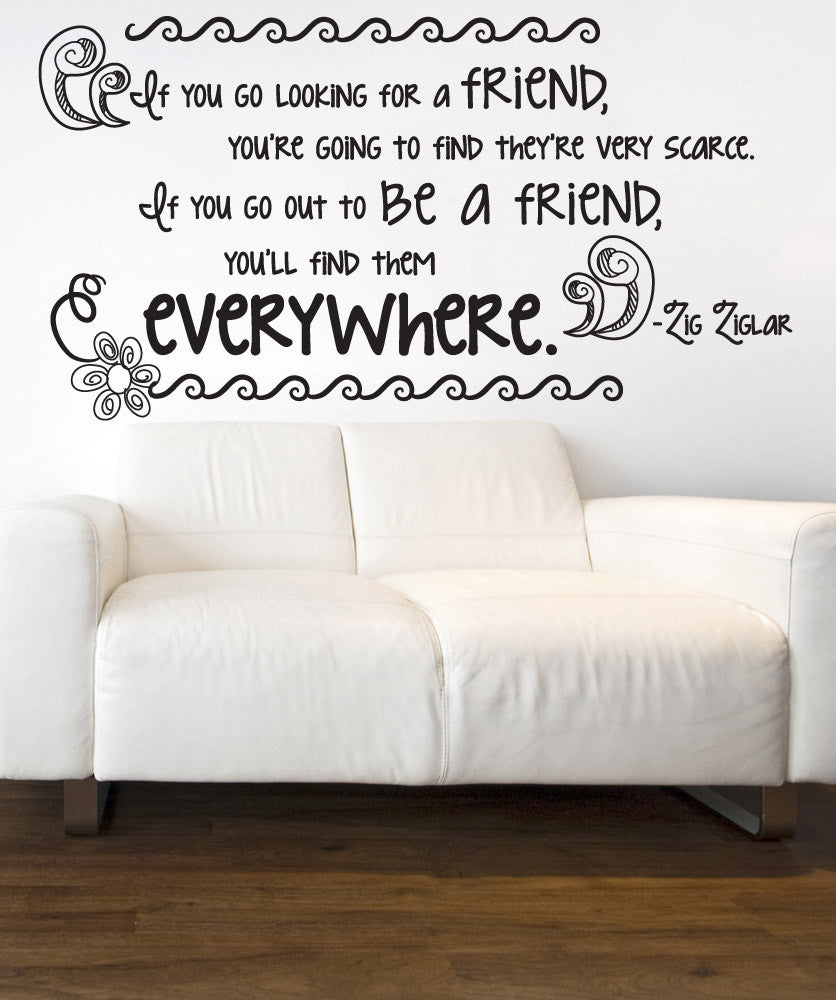 Vinyl Wall Decal Sticker Friend Quote #OS_DC530