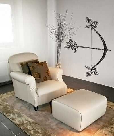 Vinyl Wall Decal Sticker Nature Bow and Arrow #OS_DC537